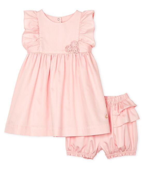 Baby-Kleid und -Bloomers aus Satin für Mädchen MINOIS