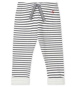 Baby-Hose aus bedrucktem Doppeljersey für Jungen weiss Marshmallow / blau Smoking