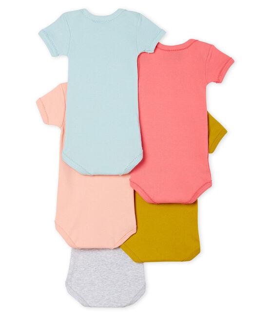 5er-Set kurzärmelige Baby-Bodys für Mädchen lot .