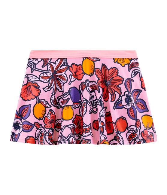 Kinder-Strandrock LSF 50+ für Mädchen rosa Patience / weiss Multico