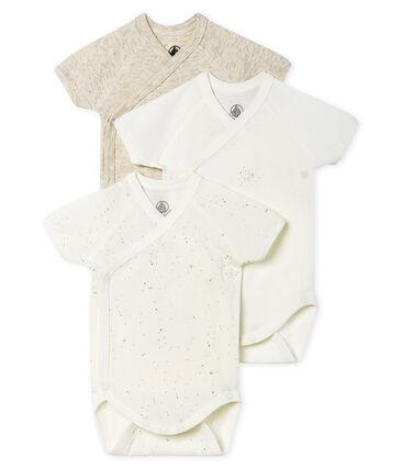 Trio kurzärmelige Neugeborenen-Baby-Bodys