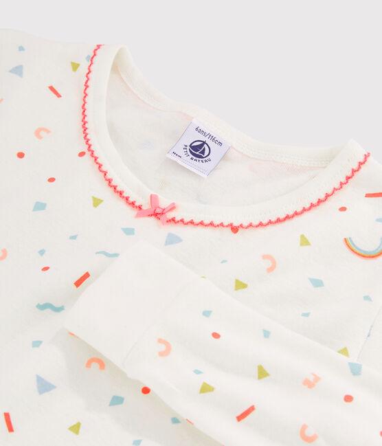 Snugfit-Pyjama mit Konfetti-Print aus Rippstrick für kleine Mädchen. weiss Marshmallow / weiss Multico