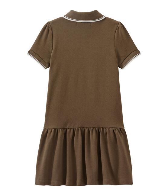 Dieses Mädchen-Kurzarmkleid braun Shitake
