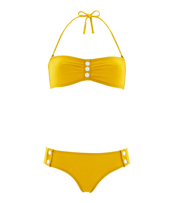 2-Teiliger badeanzug damen gelb Bamboo