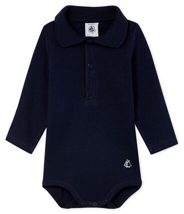 Langärmliger Baby-Body mit Polokragen für Jungen