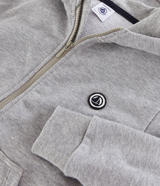 Kinder-Sweatshirt mit Kapuze für Jungen grau Subway