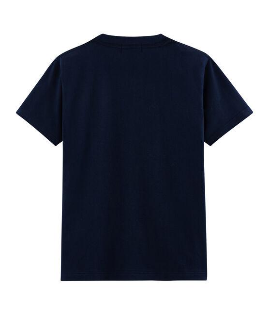 Unisex T-Shirt Postkarten-Motiv blau Haddock