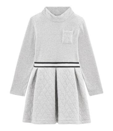 Kinder-Kleid mit Rollkragen Mädchen grau Beluga