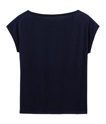Kurzärmeliges damen-t-shirt sea island aus baumwolle