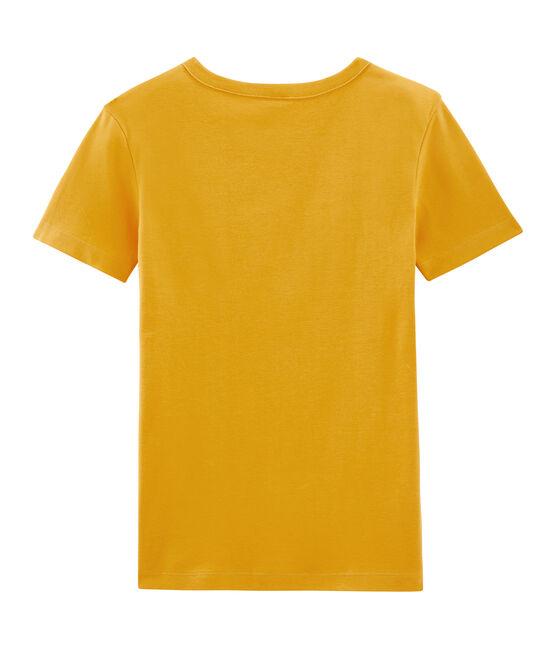 Emblematisches kurzärmliges T-Shirt für Damen gelb Boudor