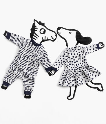 Jean-Jullien-Baby-Mädchenkleid mit langen Ärmeln