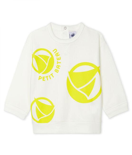 Leichtes Unisex-Baby-Sweatshirt weiss Marshmallow
