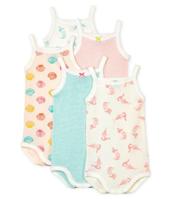 5er-Set Baby-Trägerbodys für Mädchen lot .