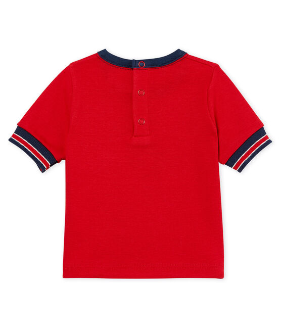 Kurzärmeliges gemustertes baby-t-shirt jungen rot Terkuit