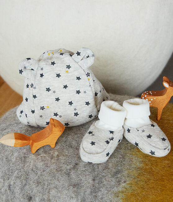 Set mit Mützchen und Babyschuhen aus Wolle und Baumwolle für Jungen lot .