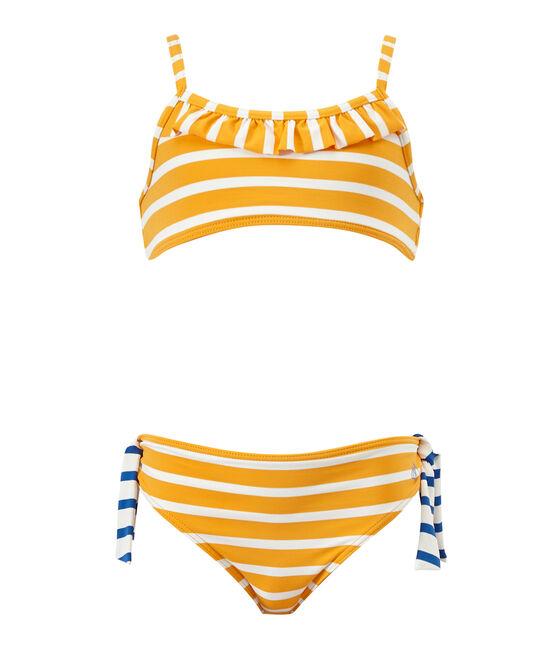 Mädchen-Bikini orange Fusion / weiss Marshmallow