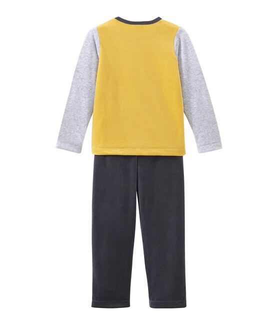 Jungen Schlafanzug grau Maki / weiss Multico