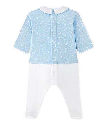 Baby-Jungen-Wickelhemd-Einteiler im Materialmix
