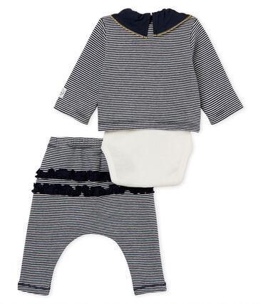 3-Teiliges gestreiftes baby-set für mädchen