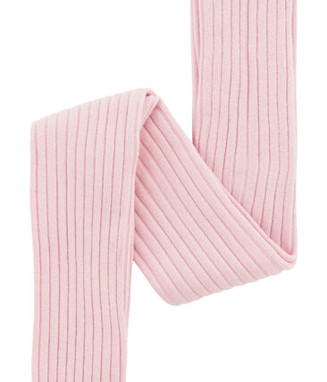 Mädchen Strumpfhose aus 5x2 Rippstrick rosa Joli