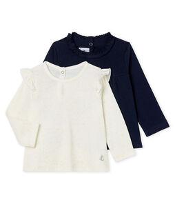 2er-Set langärmelige Baby-T-Shirts für Mädchen
