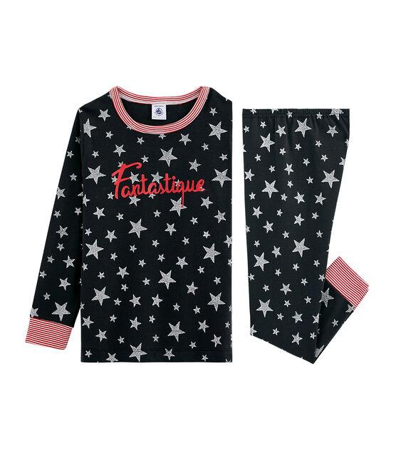 Rippstrick-Pyjama für kleine Jungen grau Capecod / grau Argent