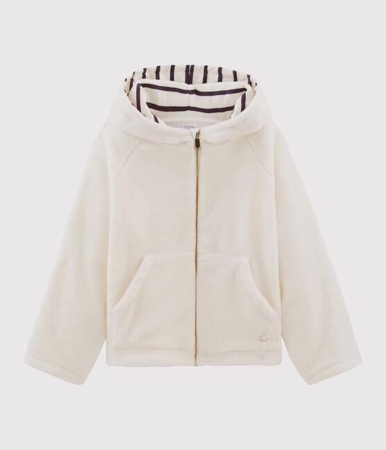 Kinder-Sweatshirt mit Kapuze für Mädchen weiss Marshmallow