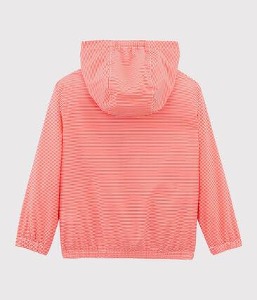 Kinder-Windjacke Unisex rosa Groseiller / weiss Marshmallow