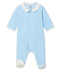 Baby-Strampler aus Velours für Jungen blau Toudou
