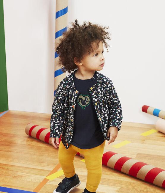 Langärmeliges Baby-T-Shirt für Mädchen blau Smoking