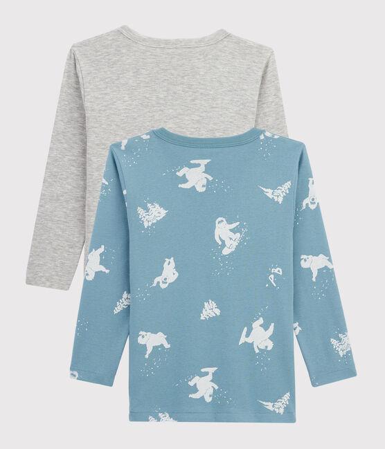 2er-Set langärmlige T-Shirts mit Yeti-Print für kleine Jungen lot .