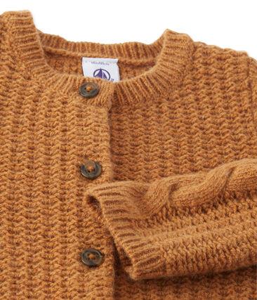 Baby-Mädchen-Cardigan aus Woll-/Nylongemisch