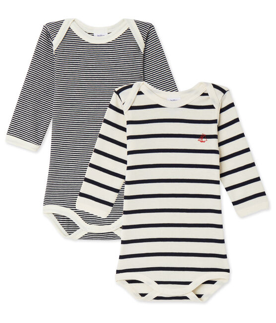 Unisex Baby Langarmbodys im 2er-Set lot .