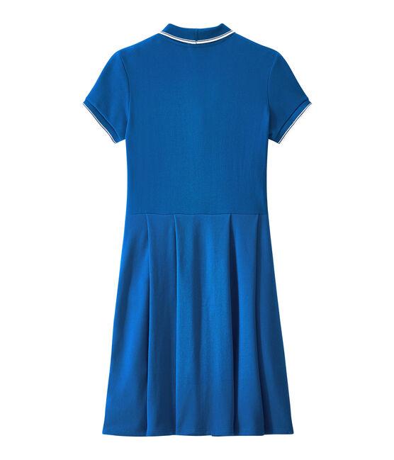 Kleid der Frau inspiriert das klassische polo blau Perse