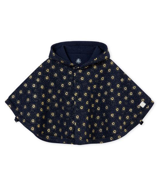 Unisex Baby Cape aus gedoppeltem Jersey blau Smoking / gelb Dore
