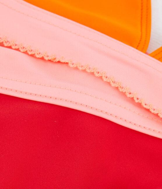 Bikini für Mädchen, LSF 50+ orange Tiger / weiss Multico