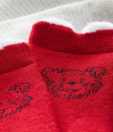 2er-Set Babystrümpfe unisex rot Terkuit