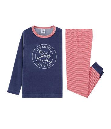 Velours-Pyjama für kleine Jungen