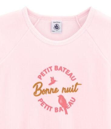 Mädchen-Schlafanzug rosa Vienne / weiss Multico