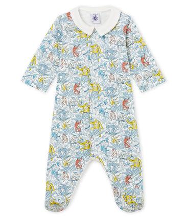 Baby-Strampler für Jungen weiss Marshmallow / weiss Multico