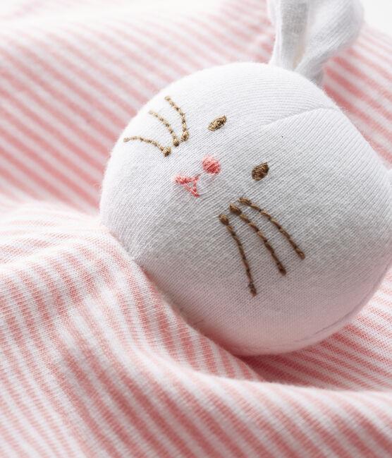 Baby-Kuschelhäschen aus Rippstrick rosa Charme / weiss Marshmallow