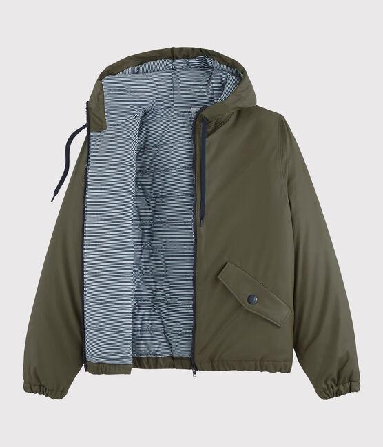 Damen-/Herren-Daunen-Regenjacke aus recyceltem Material grün Litop