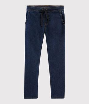 Kinder-Jeanshose für Jungen blau Denim Bleu Fonce
