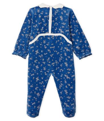 Baby-Strampler aus Nicki für Mädchen blau Major / weiss Marshmallow