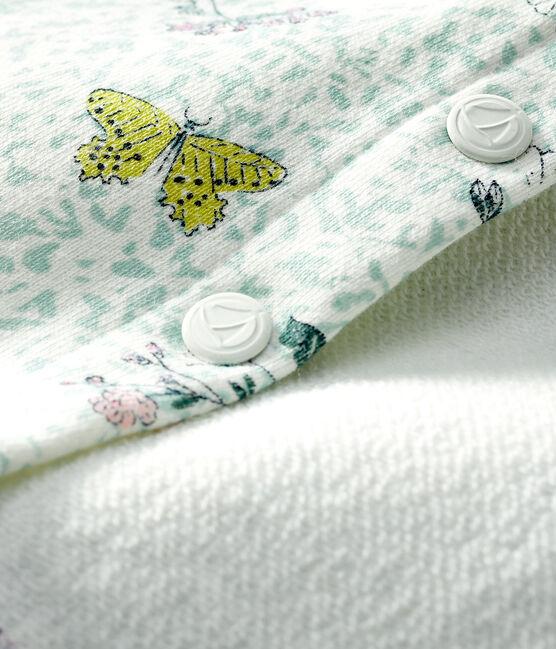 Baby-Cardigan aus bedrucktem Molton für Mädchen weiss Marshmallow / weiss Multico