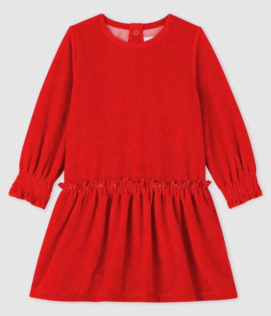 Langärmeliges Baby-Kleid für Mädchen rot Terkuit