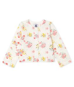 Baby-Cardigan Mädchen mit Print weiss Marshmallow / weiss Multico