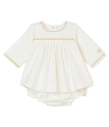 Baby MädchenKleid mit Bloomers weiss Marshmallow