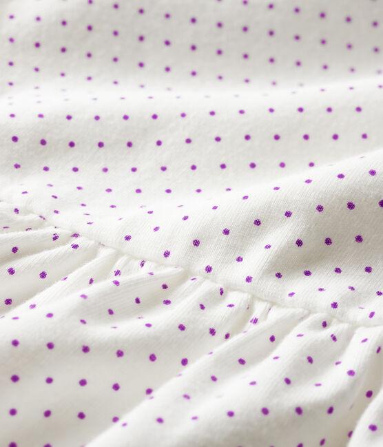Baby-Bodykleid, bedruckt, für Mädchen violett Real / weiss Marshmallow
