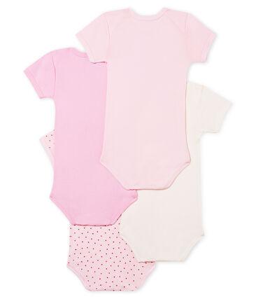 4er-Set kurzärmelige Baby-Bodys für babymädchen